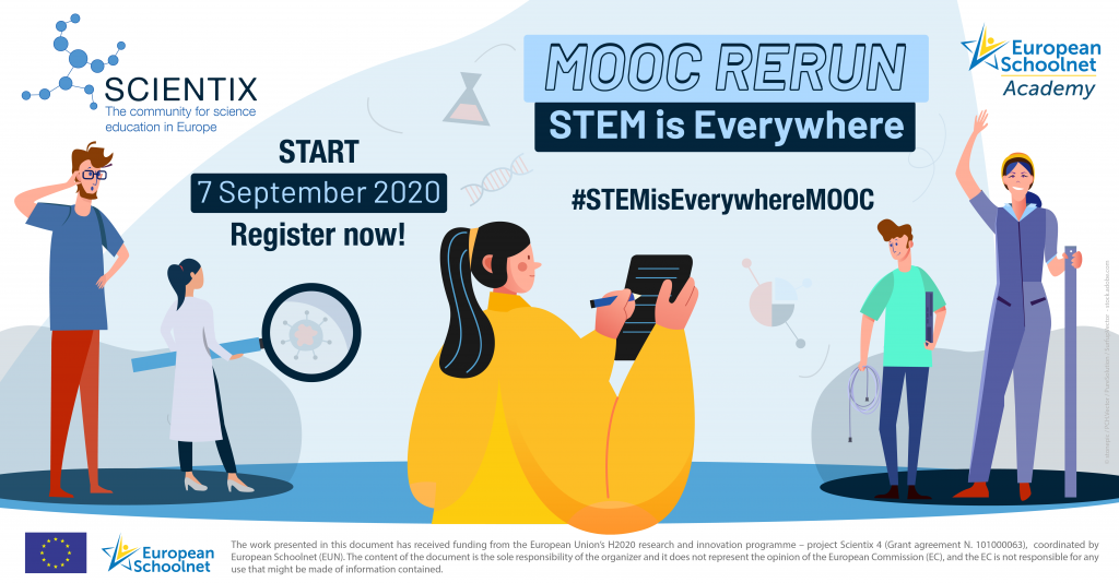 promotional visual of the STEM Is Everywhere MOOC