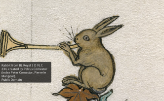 Image of a rabbit playing an instrument to illustrate how to discover europeana's platform