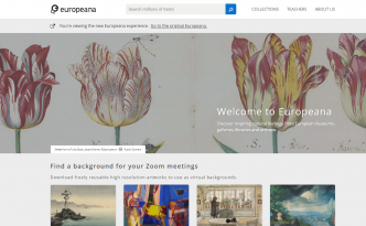 screenshot of the new europeana collections