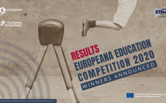 visual announcing the publication of the Europeana Education Competition 2020 results