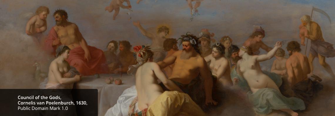 Council of the Gods, Cornelis van Poelenburch, 1630, Mauritshuis PD