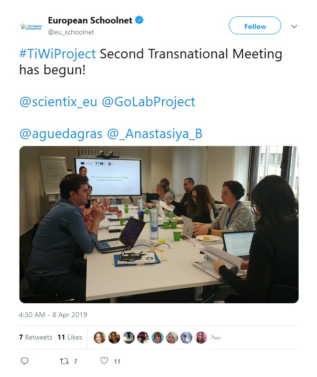 Picture_Tweet_2nd transnational project meeting for TiWi Project